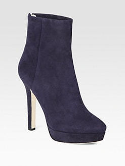 Jimmy Choo - Magic Suede Platform Ankle Boots
