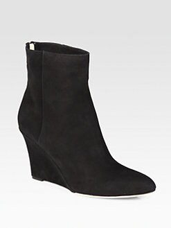 Jimmy Choo - Mayor Suede Wedge Ankle Boots