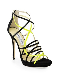 Jimmy Choo - Myth Suede & Leather Platform Sandals