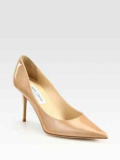 Jimmy Choo - Agnes Patent Leather Point Toe Pumps