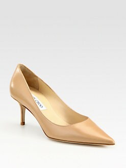 Jimmy Choo - Aurora Leather Point Toe Pumps