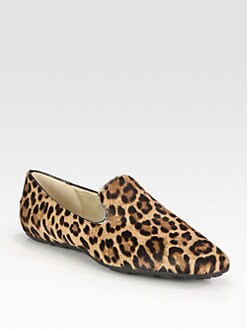 Jimmy Choo - Wheel Pony Hair Smoking Slippers