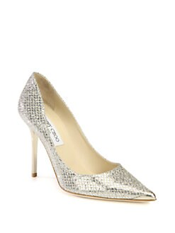 Jimmy Choo - Abel Glitter-Coated Leather Pumps