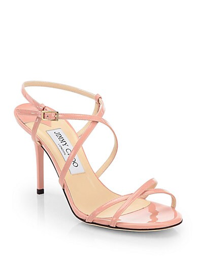 Elaine Strappy Patent Leather Sandals