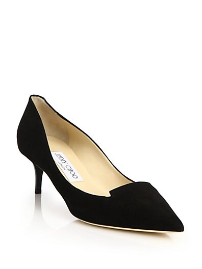 Allure Suede Kitten Heel Pumps