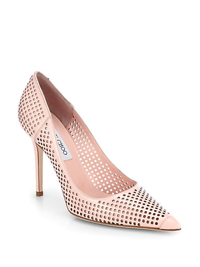 Jimmy Choo Abel Perforated Patent Leather Pumps