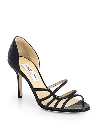 Straits Glitter  Snakeskin Sandals