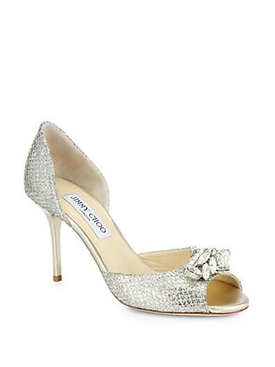 Maria Jeweled Glitter d'Orsay Pumps