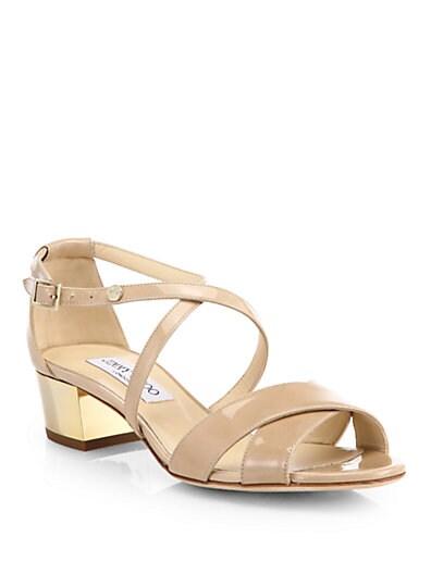 Merit Crisscross Patent Leather Sandals