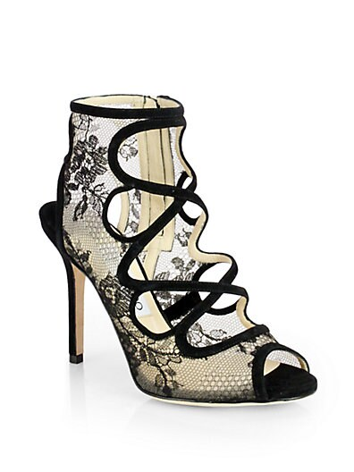 Jalislo Lace  Suede Sandals