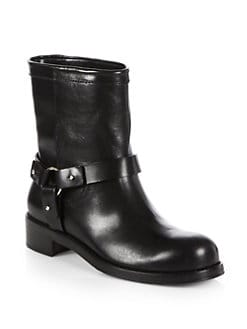 Jimmy Choo - Dixie Leather Mid-Calf Boots