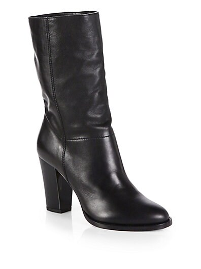 Music Leather Mid-Calf Boots