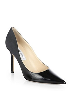 Jimmy Choo - Abel Patent Leather & Suede Degrade Pumps