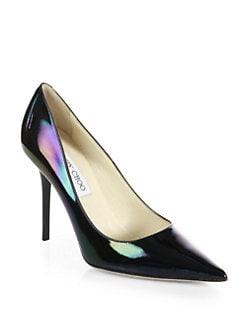 Jimmy Choo - Abel Hologram Patent Leather Pumps
