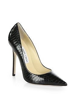 Jimmy Choo - Anouk Snakeskin Pumps