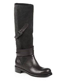 Jimmy Choo - Darla Suede & Leather Knee-High Boots
