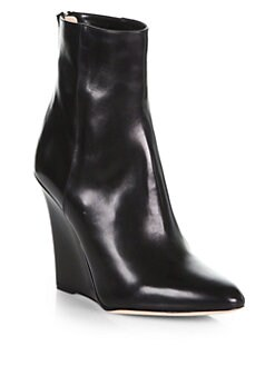Jimmy Choo - Mercury Leather Wedge Ankle Boots