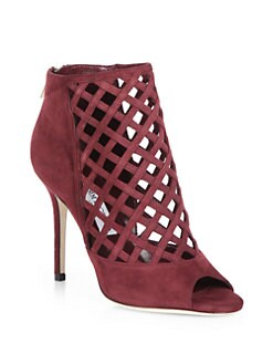 Jimmy Choo - Drift Suede Lattice Ankle Boots