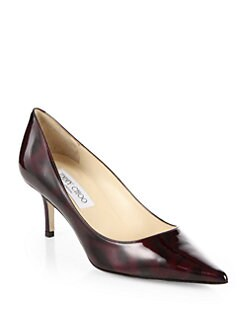 Jimmy Choo - Aurora Abstract-Print Patent Leather Pumps
