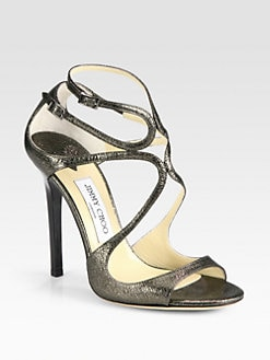 Jimmy Choo - Lance Metallic Leather Sandals