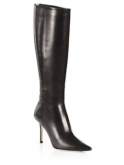 Jimmy Choo - Alma Leather Knee-High Boots