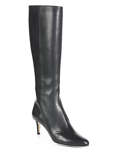 Gem Leather Knee-High Boots