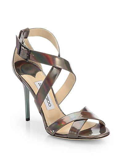 Lottie Patent Leather Disco Hologram Sandals