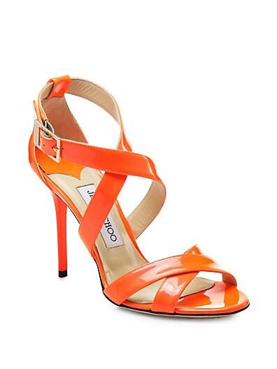 Lottie Neon Patent Leather Sandals