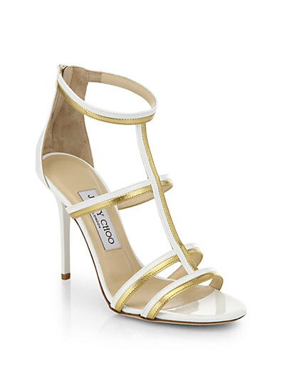 Thistle Patent  Metallic Leather Sandals