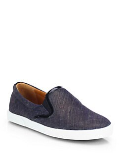 Jimmy Choo - Demi Denim Laceless Sneakers