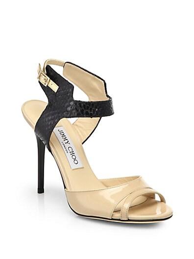 Marcia Mixed Media Sandals