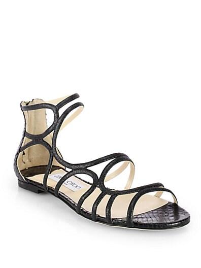 Sutri Glitter  Snakeskin Strappy Sandals