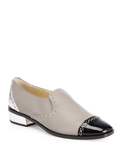 West Leather Cap-Toe Slip-On Loafers