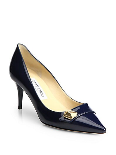 Hyder Studded Patent Leather Pumps