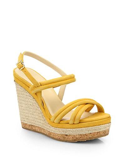 Nadym Suede Espadrille Wedge Sandals