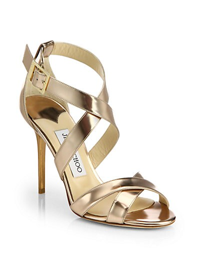 Lottie Mirror Leather Sandals
