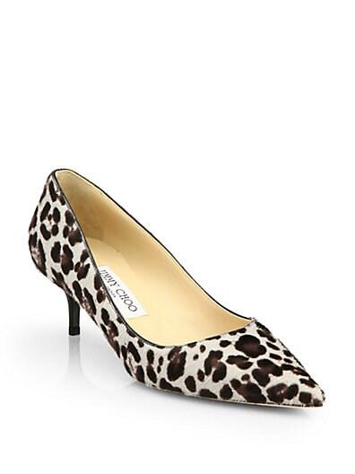 Aza Leopard-Print Calf Hair Pumps