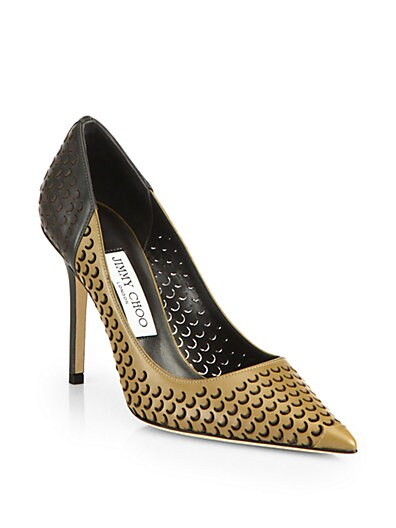 Able Perforated Leather Pumps