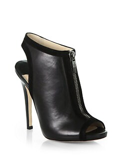 Jimmy Choo - Mira Front-Zip Leather & Suede Ankle Boots
