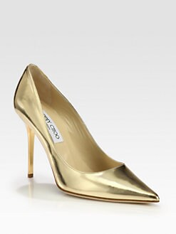 Jimmy Choo - Abel Metallic Leather Pumps