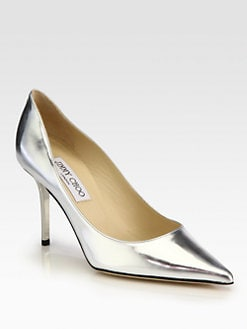 Jimmy Choo - Agnes Mirror Leather Pumps