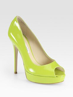 Jimmy Choo - Crown Patent Leather Platform Pumps