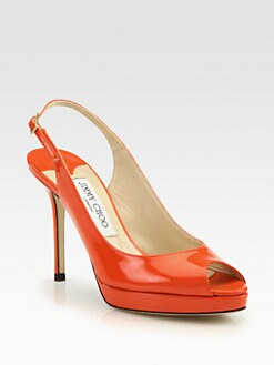 Jimmy Choo - Nova Patent Leather Slingback Pumps