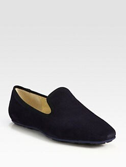 Jimmy Choo - Wheel Suede Weekend Smoking Slippers