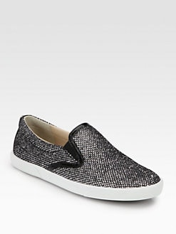 Jimmy Choo - Sparkle Patent Leather Sneakers
