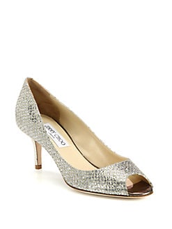 Jimmy Choo - Isabel Glitter Pumps