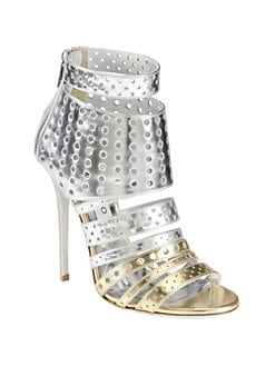 Jimmy Choo - Malika Metallic Leather Sandals