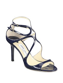 Jimmy Choo - Ivette Patent Leather Sandals