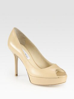 Jimmy Choo - Tiara Leather Platform Pumps