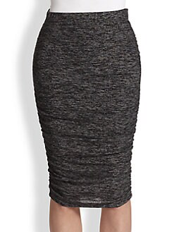 Splendid - Space-Dyed Ruched Jersey Skirt